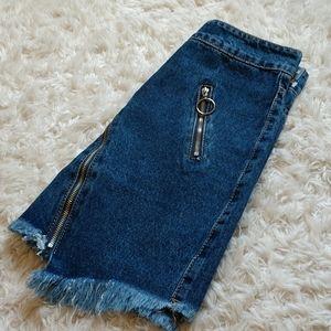 Momokrom Skirts - Momokrom Down-' low Denim Skirt